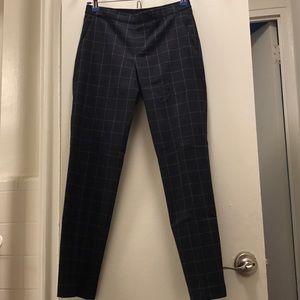 Uniqlo elastic waistband check pants XS 24-25waist